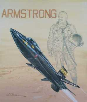X 15 Neil Armstrong Art depicting Neil Armstrong
